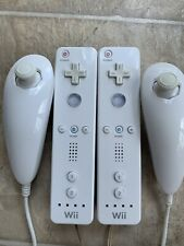 Official Nintendo Wii Remote w/ OEM Nunchuck WHITE