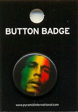 Bob Marley Face 25mm Button Badge Pin Official Carded