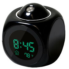 Digital Alarm Clock LED Wall/Ceiling Projection LCD Digital Voice Talking With