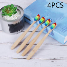 1Pc Medium-Bristle Bamboo Toothbrush Wood Teeth Brush Fibre Wooden Hand Gift