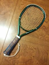 Vintage Wilson Conqueror Racquetball Racquet w/Leather Grip & Cover