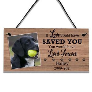 Personalised Dog Pet Bereavement Memorial Gifts Plaque Sign Home Decor Keepsake