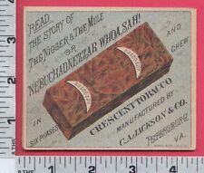 B883 Crescent Tobacco Co. flier Nebuchadnezzar Mule Afro American Petersburg, VA