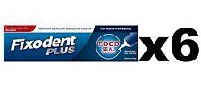 6x Fixodent Food Seal Denture Adhesive Cream 40g precision tip **UK STOCK **