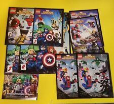 LEGO 2012 Marvel Super Heroes Product Booklet/Pamphlet/Insert lot of 10 Deadpool