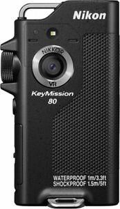 Waterproof Wearable Camera Nikon KeyMission BK 80 Black Japan