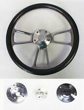 "64-66 Chevy II 2 Nova Impala Carbon Fiber & Billet Steering Wheel 14"" Bowtie Cap"