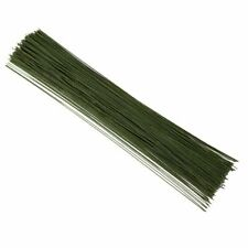 """Green Floral Wire Stems, 22 Gauge Wrapped Stems for Bouquet 16"""", 300 pcs"""