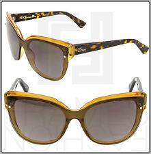 CHRISTIAN DIOR Glisten 3 Brown Nude Orange Glitter Squared Sunglasses Women