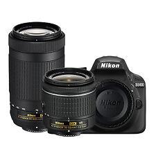 Nikon D3400 Kit w/AF-P 18-55mm VR & AF-P 70-300mm (Black) *NEW* *IN STOCK*
