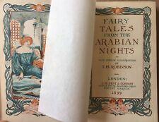 Thomas Heath Robinson THE ARABIAN NIGHTS 1899 1st Ed  Leather ALADDIN