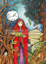 Set of Six Yule Christmas cards, Solstice Dragon Celtic