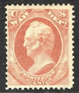 [P]  US  #O91 ~ Unused  24c WAR DEPARTMENT' Official ~1873 CBN Co.