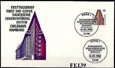 BRD 1988: chile casa en Hamburgo! SWK-fdc nº 1379 con bonner sonderstempeln! 156