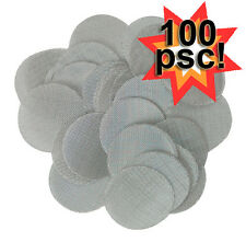 "100 - 5/8"", 0.625"" STAINLESS STEEL smoking PIPE SCREENS"