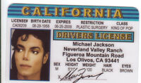 Michael Jackson the King of Pop.. plastic ID card Drivers License -
