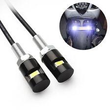 2x 12V Bolt Motorcycle Lamp Light Plate Bulb Screw SMD LED Fantastic License Car