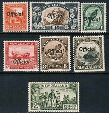 New Zealand Official 1936-42 Sc#O64-5, O67-8b, O70-1, MNH**VF cp2