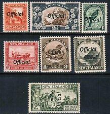 New Zealand Official 1936-42 Sc#O64-5, O67-8b, O70-1, MNH**VF cp2