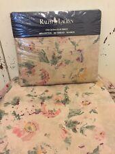 Vintage Ralph Lauren Francesca Flat Sheet ~ New in Package ~ Floral Beauty