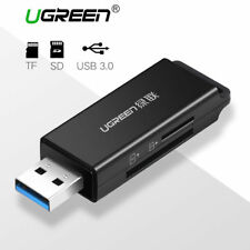 Ugreen SD Card Reader USB 3.0 SD TF Memory Card Adapter with Keychain - Black