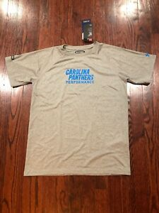 NWT$28 Under Armour NFL Carolina Panthers Youth Short Sleeve Combine Tee Gray L