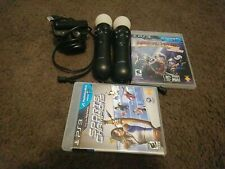 2 OEM Sony Playstation Move Controllers, Eye Camera + Sports, medieval PS3 PS4