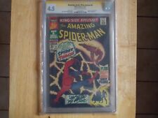 AMAZING SPIDER-MAN ANNUAL #4 KING SIZE SPECIAL CGC 4.5 STAN LEE SIG!
