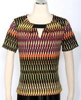 Bar III Rhubarb Combo Blouse Size L Women's Casual Geometric Print New *
