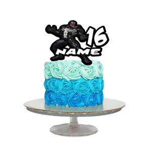 VENOM INSPIRED PERSONALISED BIRTHDAY CAKE TOPPER ANY NAME AGE