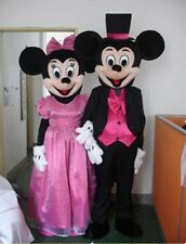 Cartoon Character Mickey Minnie Mouse Wedding Suit Mascot Costume Fancy Dress.