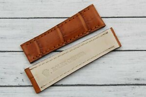 Strap Band Rolex Daytona Brown Gold Clasp Real Leather Artisan Promo