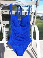 LA BLANCA BLUE SWEETHEART NECKLINE ONE PIECE SWIMSUIT Size 6