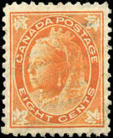 1897 Used Canada 8c VF Scott #72 Queen Victoria Maple Leaf Stamp