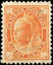 1897 Used Canada 8c VF Scott #72 Queen Victoria Maple Leaf Stamp