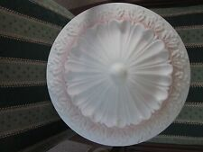 Old 1930's  Large  Milk Glass Shade 16""