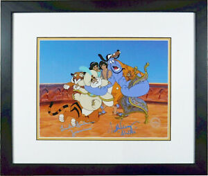 Aladdin Disney Sericel Group Hug Signed Voices Scott Wingart Linda Larkin new Fr
