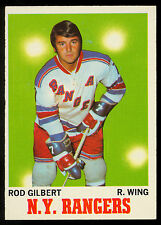 1970 71 TOPPS HOCKEY #63 ROD GILBERT NM NEW YORK N Y RANGERS card