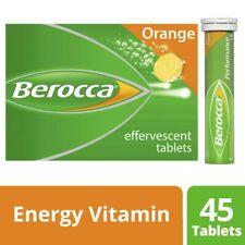NEW Berocca Performance Dietary Energy Vitamin Effervescent 45 Tablets Orange