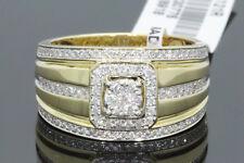 10K YELLOW GOLD .69 CARAT MENS REAL DIAMOND ENGAGEMENT WEDDING PINKY RING BAND