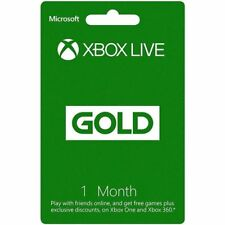 1 Month Xbox Live Gold Membership Subscription Code- Code Will be Emailed