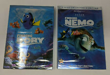 Disney's Finding Nemo & Finding Dory w/ Slipcover (Dvd Bundle) New Free Shipping