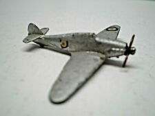 Dinky toy 1939 Pre War Silver Hawker Hurricane Fighter # 62s