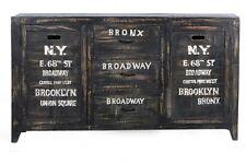 Sideboard Bronx Schrank Kommode Anrichte Mangoholz antikschwarz lackiert