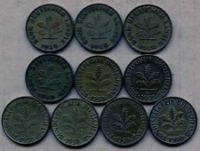 10 Germany 10 Pfennig Coins 1949 - 1950