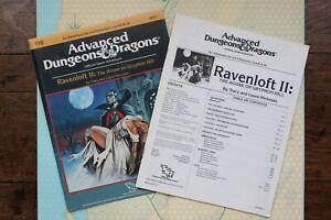 Ravenloft II 2 House on Gryphon Hill Module AD&D 1st Edition TSR 9181 I10 1986