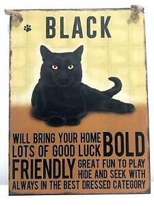 BLACK CAT METAL SIGN~ MEDIUM  ~ NEW