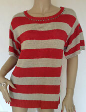 Striped Boat Neck Hip Length Medium Women's Jumpers & Cardigans