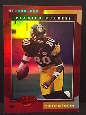 PLAXICO BURRESS 2001 Leaf Certified Materials MIRROR RED Serial #d /75 STEELERS