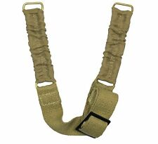 NEW British Army Helmet CHIN STRAP - Khaki Canvas Infantry Web Webbing WW2 Repro